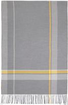 Acne Studios Grey Check Cesar Blanket Scarf