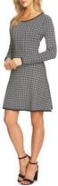 CeCe Women's Fit & Flare Sweater Dress