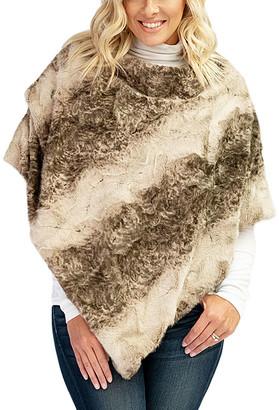 Donna Salyers' Fabulous Faux Furs Donna Salyers' Fabulous-Faux Furs Women's Ponchos Natural - Natural Rex Rabbit Faux Fur Poncho - Women