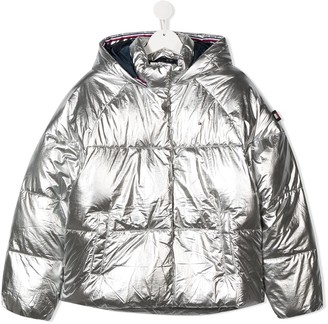 Tommy Hilfiger Junior TEEN metallic hooded padded jacket
