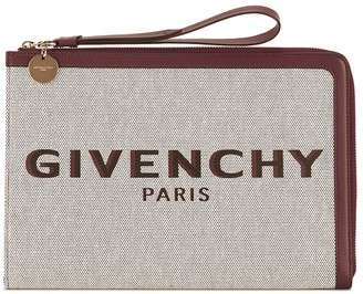 Givenchy Bond large logo-print canvas pouch