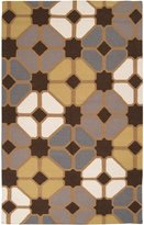 Surya FT70 Frontier Flat Weave Hand Woven 100% Wool Multi-Colored Rug (5-Feet x 8-Feet )