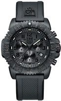 Luminox 44mm Navy SEAL 3080 Series Colormark Chronograph Watch, Black