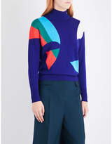 DELPOZO Abstract turtleneck wool jumper