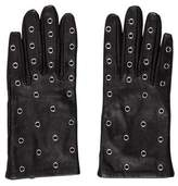 Sandro Grommet-Embellished Leather Gloves