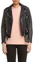 Acne Studios Women's Mock Core Leather Moto Jacket