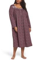 Eileen West Plus Size Women's Cotton Nightgown
