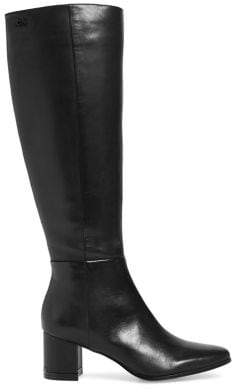 Calvin Klein Freeda Leather Tall Boots