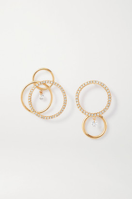 PERSÉE Tourbillon + Bonnie & Clyde 18-karat Gold Diamond Earrings - one size