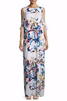 Rachel Pally Floral Cold Shoulder Dress