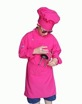 Chefskin Kids Child Chef Outfit includes Jacket Apron & Hat Toddler XS SM REG XL 2X (XXL ( 10-12 Yrs Old), HOT PINK)
