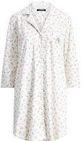 Ralph Lauren Floral Cotton Pajama Shirt