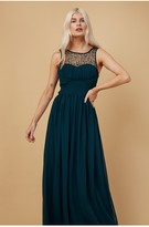 Thumbnail for your product : Little Mistress Grace Bridesmaid Emerald Green Embellishment Sweetheart Maxi Dress