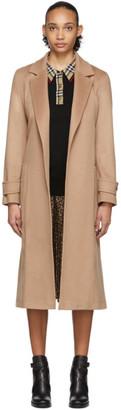 Burberry Beige Cashmere Sherringham Coat