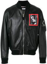 Givenchy patched leather bomber jacket