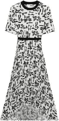 Maje Rosyla Printed Midi Dress
