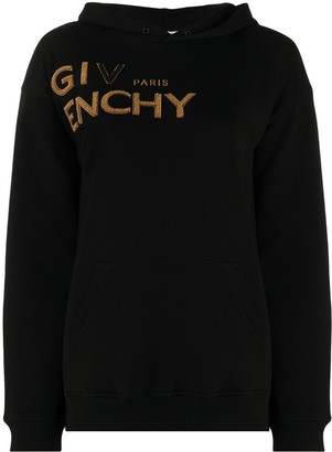 Givenchy Logo Embroidered Hoodie