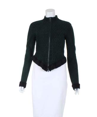 Alaia Green Synthetic Knitwear