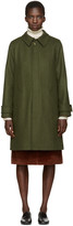 A.P.C. Green Mac Dinar Trench Coat
