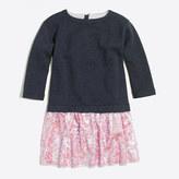 J.Crew Factory Girls' sequin-skirt sweatshirt dress