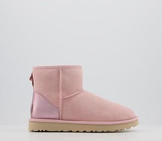 UGG Classic Mini Metallic Boots Pink Cloud