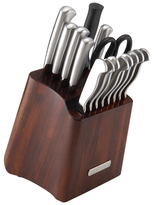 Sabatier Acacia Block Stainless Steel Cutlery Set (16 PC)
