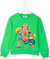 Moschino Kids - monkey print sweatshirt - kids - Cotton/Spandex/Elastane - 8 yrs