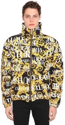 Versace PRINT BAROQUE LOGO DOWN JACKET
