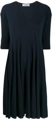 Jil Sander V-neck swing dress