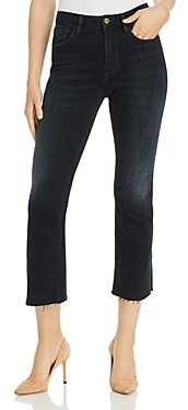 Frame Le Cropped Mini Boot Raw-Edge Jeans in Marcella