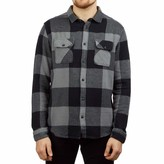 RVCA Men's Haywire Flannel Long Sleeve Woven Button Front Shirt
