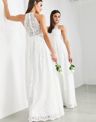 ASOS EDITION Amalie lace halter neck maxi wedding dress