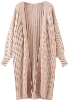 Goodnight Macaroon 'Brynn' Chunky Ribbed Knit Bishop Sleeve Cardigan (4 Colors)