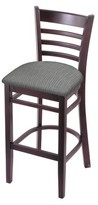"30"" Bar Stool Holland Bar Stool Color: Dark Cherry, Upholstery: Graph Alpine"