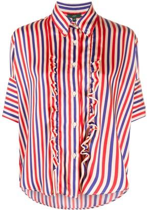 Jejia Striped Ruffled Shirt