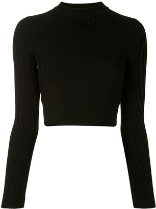 Vaara Ribbed Cropped Performance Top
