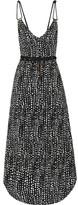 Vix Dots Thai Printed Voile Dress - Black