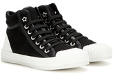 Jimmy Choo Berlin Leather-trimmed High-top Sneakers