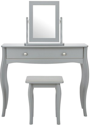 Baroque Dressing Table, Stool and Mirror Set