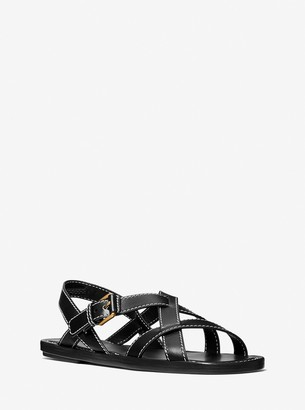 Michael Kors Collection Perrine Leather Sandal