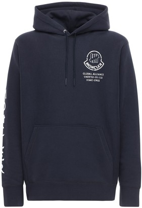 MONCLER GENIUS Undefeated Logo Cotton Hoodie