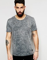ONLY & SONS Scoop Neck Acid Wash T-Shirt