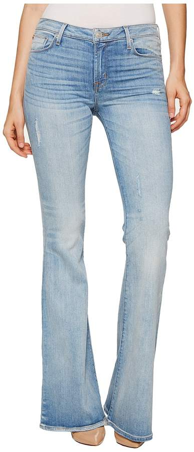Hudson Mia Five-Pocket Mid-Rise Flare Jeans in Aura Women's Jeans