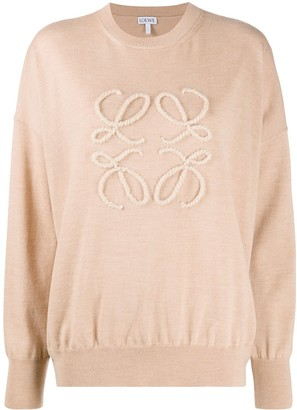 Loewe Anagram embroidered fine knit jumper
