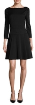 Carolina Herrera Fit & Flare Silk Dress