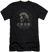 CBGB Mens Electric Skull Slim Fit T-Shirt