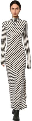 Loewe Striped Cotton Jersey Flared Dress