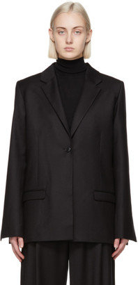 Totême Black Wool Flannel Blazer