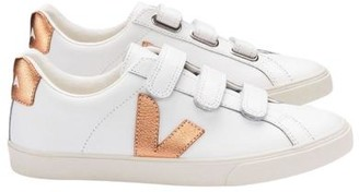 Veja 3 Lock Logo Leather White Venus Copper Trainers Shoes - 36 (UK 3)