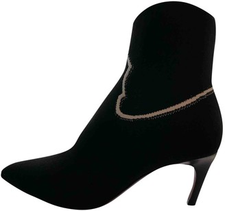 Christian Dior Black Suede Ankle boots
